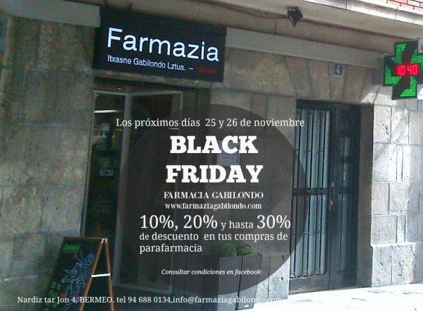black friday farmacia gabilondo