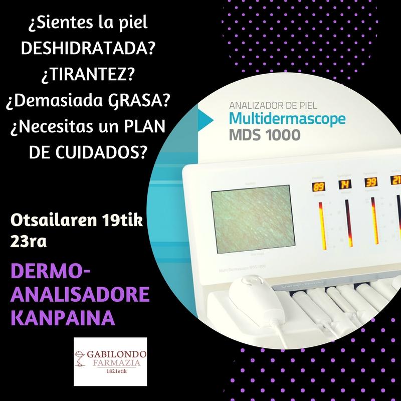 Campaña para Pieles sensibles: Servicio Dermoanalisis en febrero