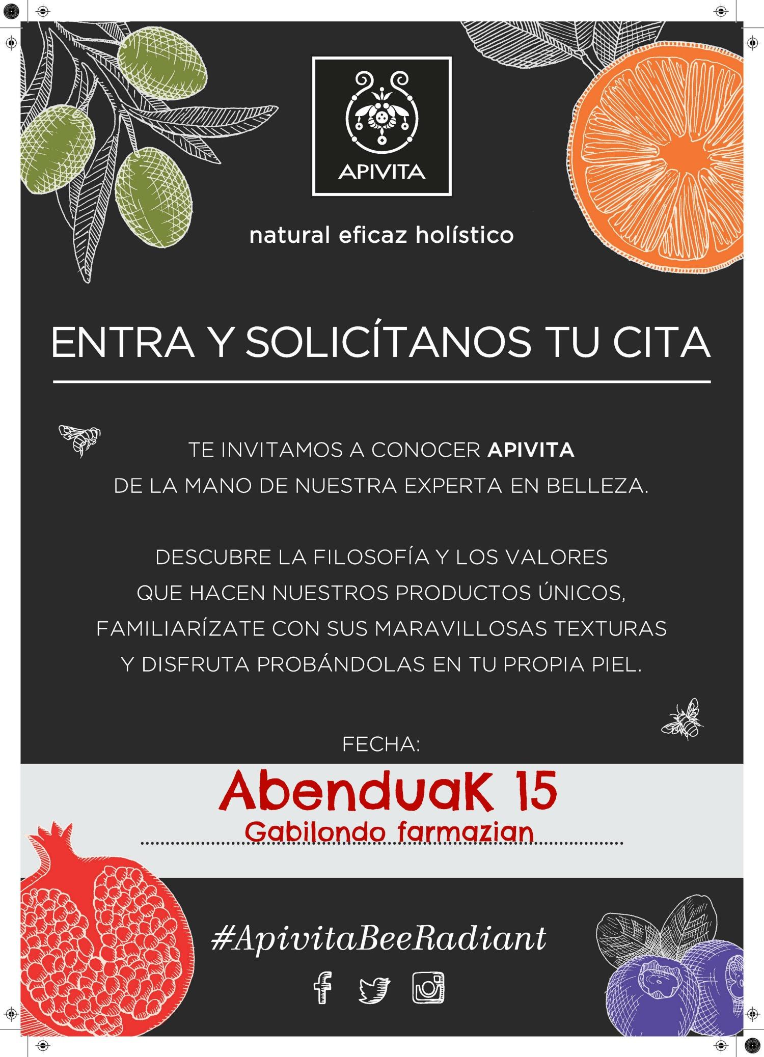 15 de diciembre:Taller GRATUITO de cosmética natural APIVITA