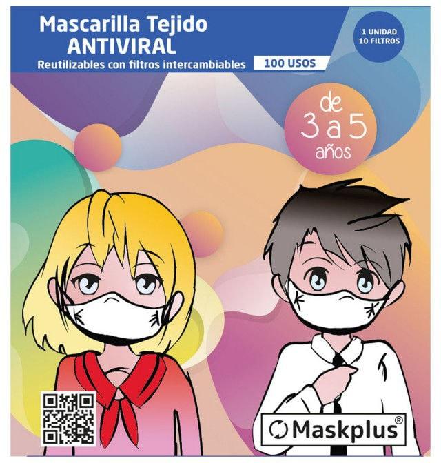 Mascarillas infantiles Maskplus
